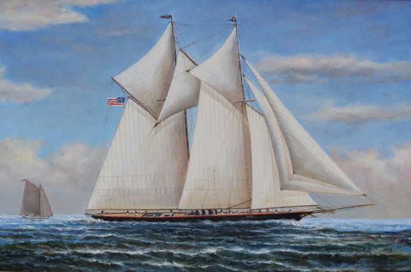 Oil on Canvas | Two-Masted Schooner