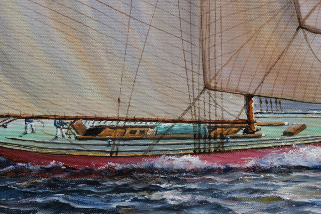 Sloop Under Full Sail | Oil on Canvas