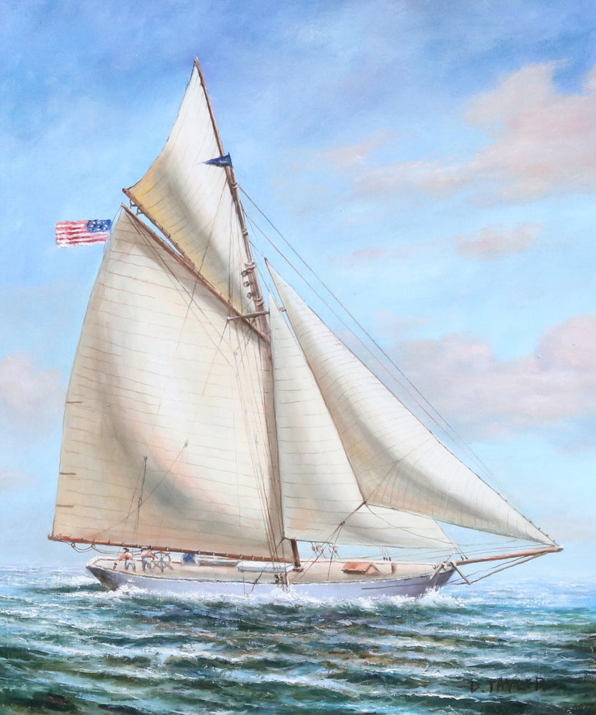 Gaff Rigged Sloop | Oil on Canvas