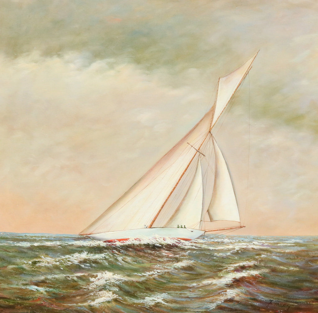 Sloop in Sunset | Oil on Canvas