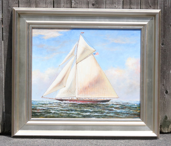 Oil on Canvas of a Yacht