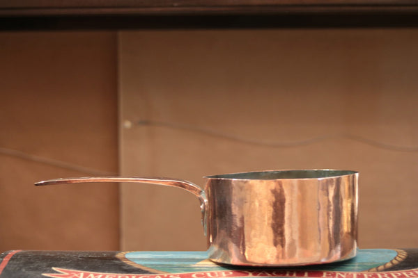 Early Hammered Copper Sauce Pan