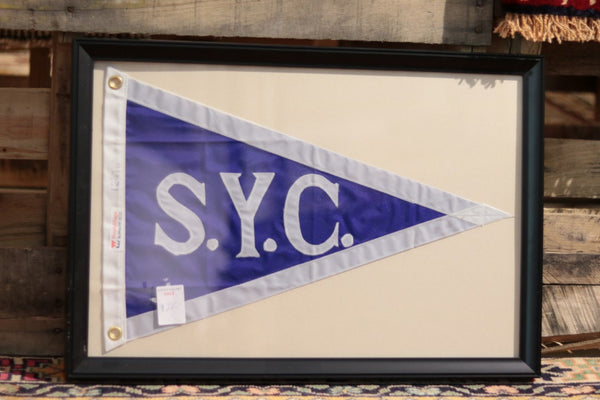Framed Yacht Club Burgee
