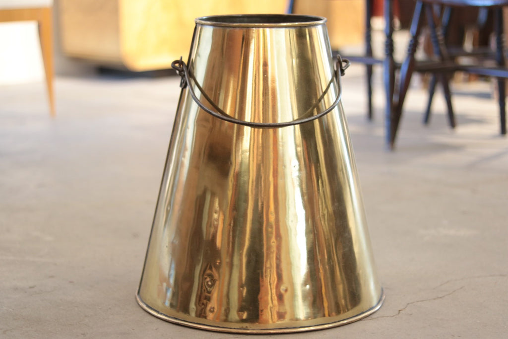 Authentic Brass Cream Bucket