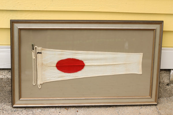"Framed Cotton Signal Flag ""1"""