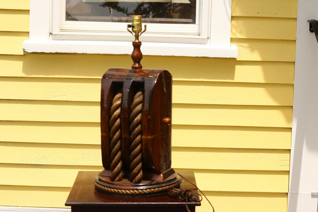 Early Table Lamp from Ship's Block & Tackle