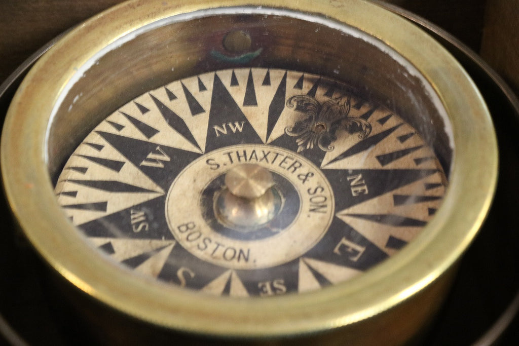 Mid-19th Century Boxed Compass
