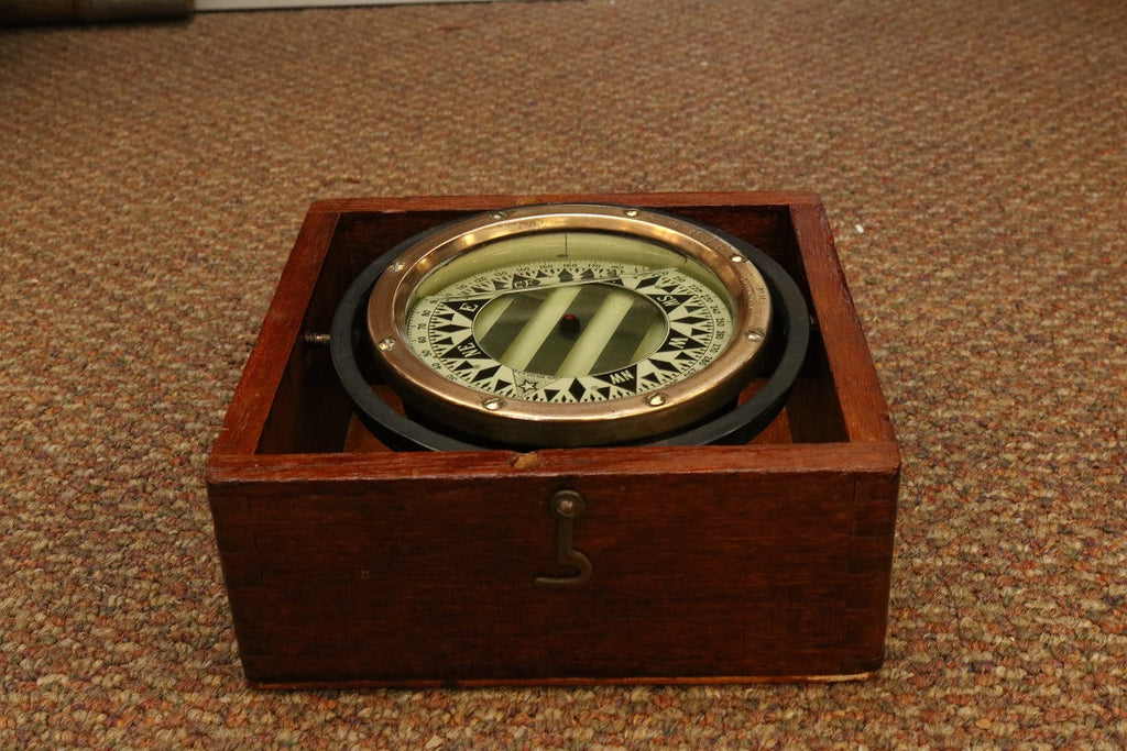 Brass Boxed Compass by Star of Boston