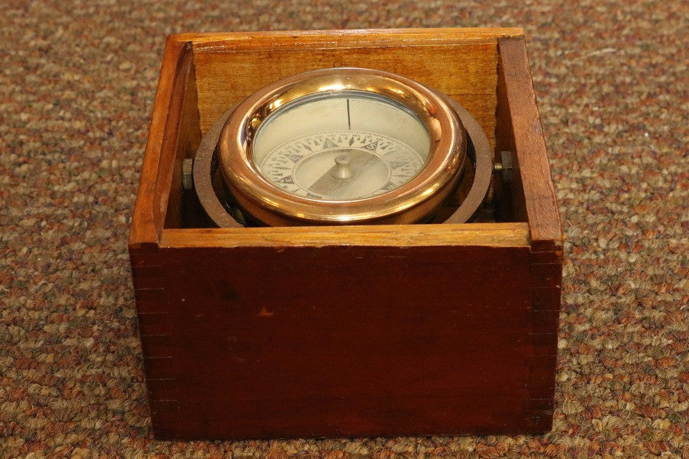 Brass Box Compass by Wilcox Crittenden