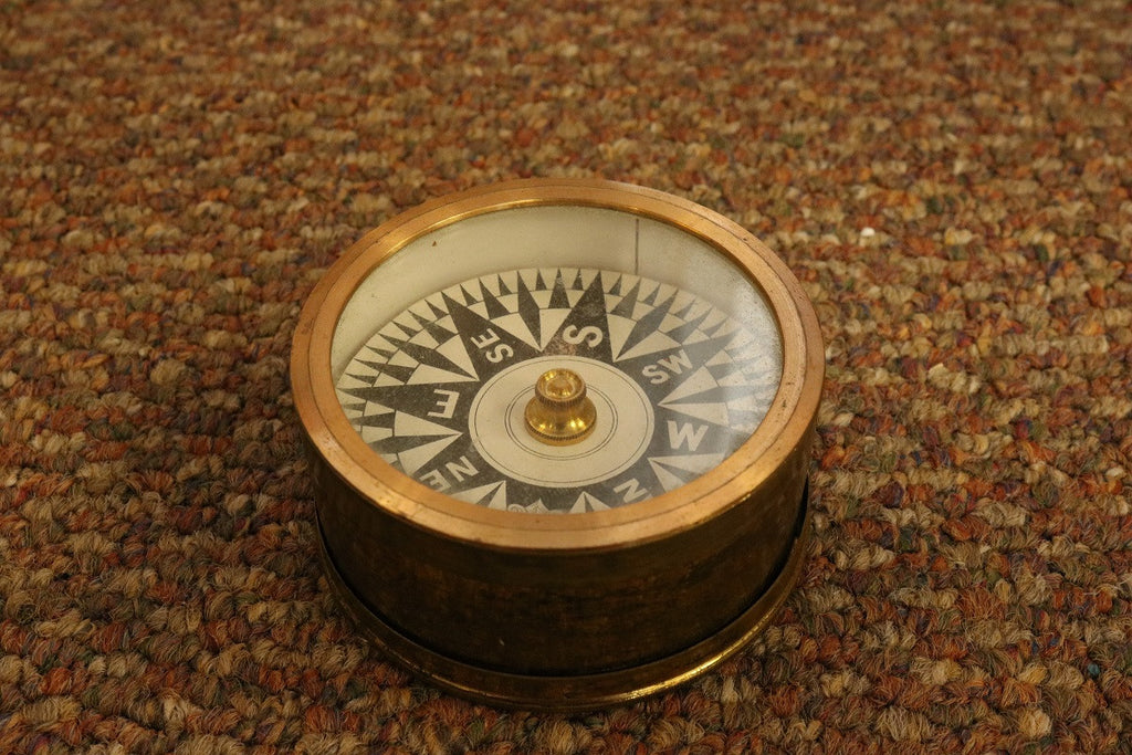 Brass Desk Compass