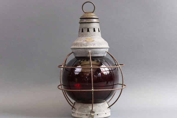 Ruby Red Perkins Ship's Lantern