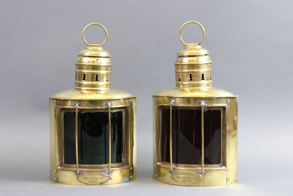 19th Century Yacht Port & Starboard Lanterns
