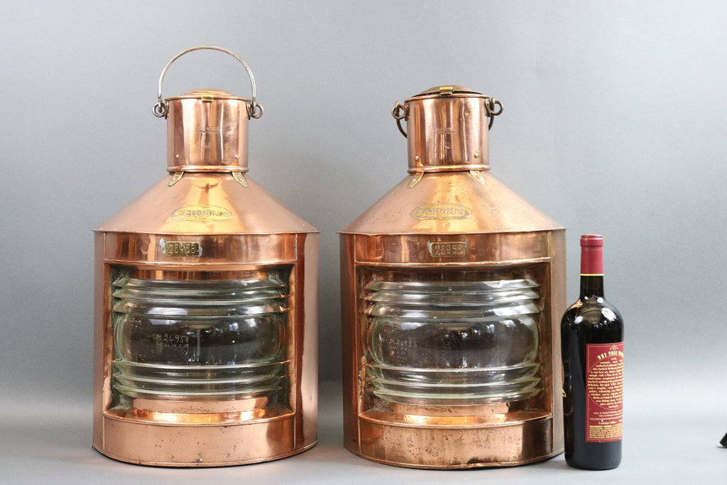 Polished Copper Port & Starboard Lanterns
