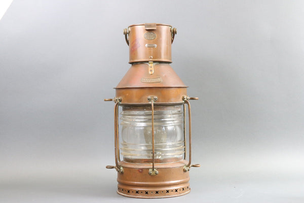 Massive Copper Anchor Lantern