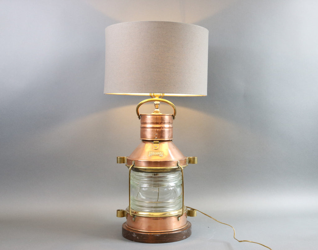 Ship's Solid Copper Anchor Lantern Lamp