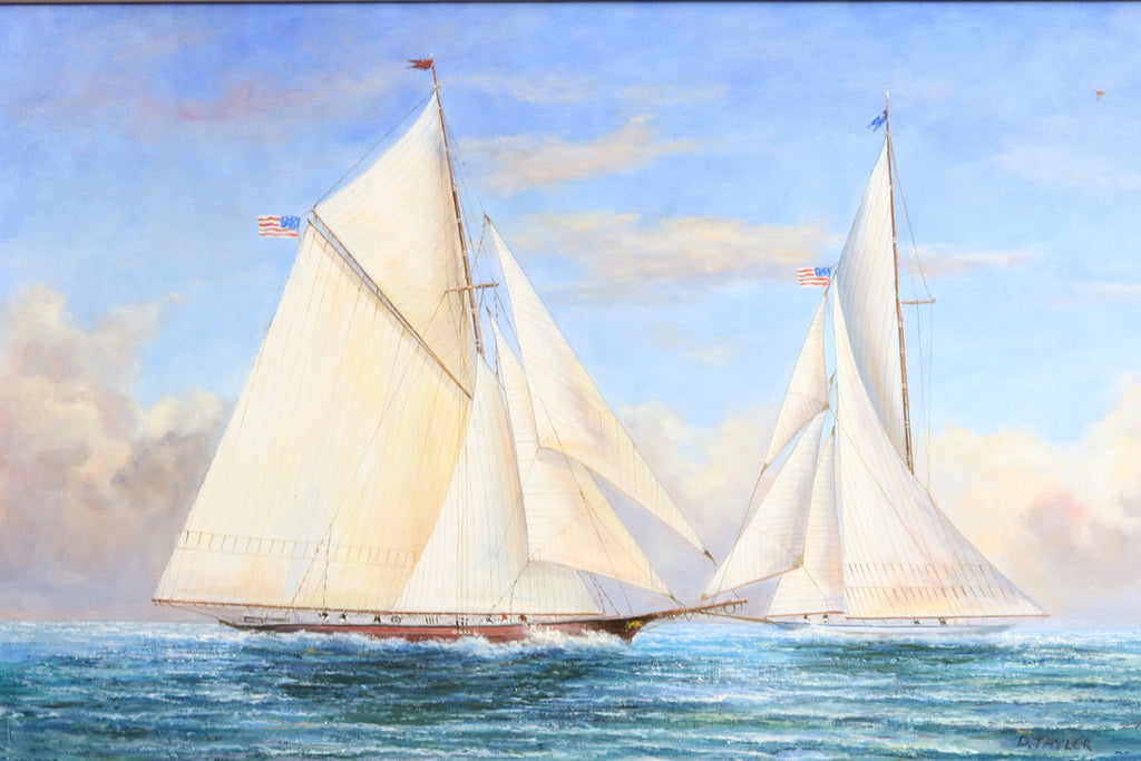 Oil on Canvas of America's Cup Race