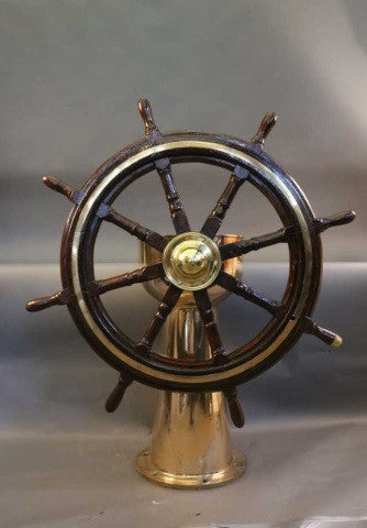 Ship's Wheel on Stand