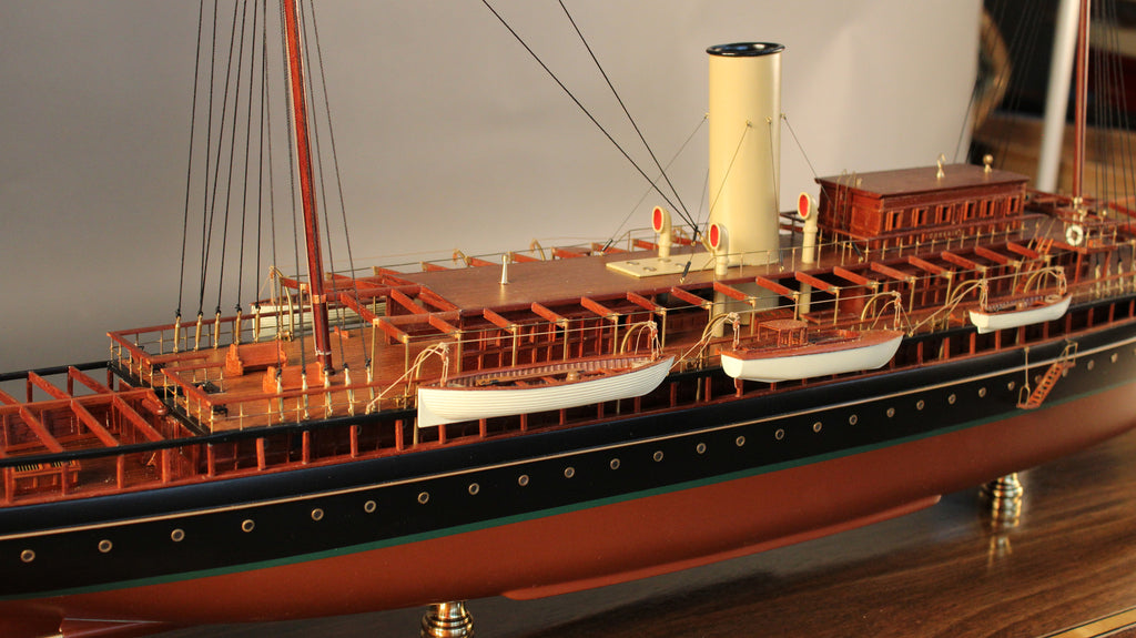 "Model of JP Morgan's ""Corsair IV"", 1930"