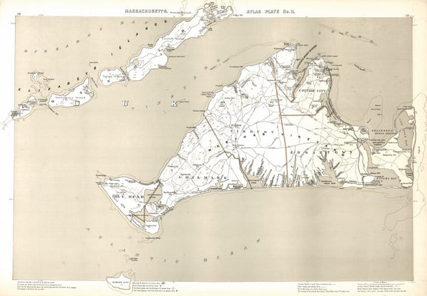 Atlas Plate No. 11, Martha's Vineyard COPY