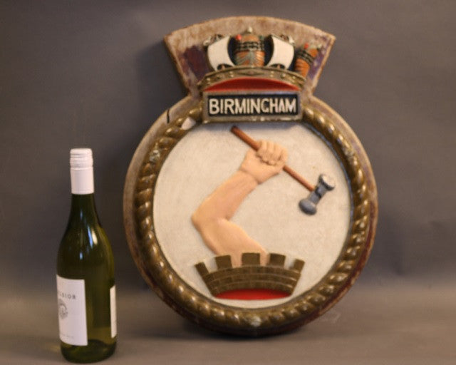 "Ship's Badge from ""HMS Birmingham"""