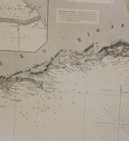 Original Imray Chart of the Coast of Brazil