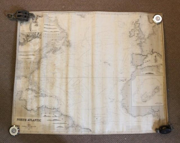 Original Imray & Son Chart of North Atlantic, 1876