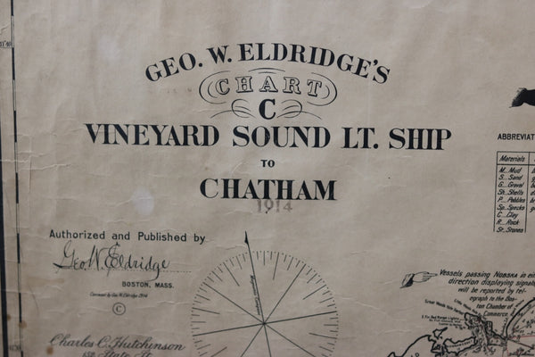 Original chart | Vineyard Sound Lightship to Chatham | early 20th century |