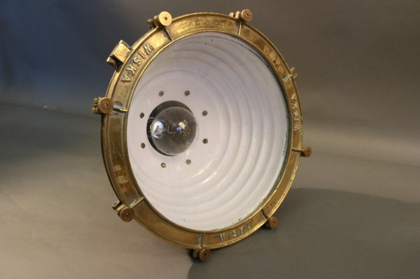 Spun Copper Ship's Cargo Light