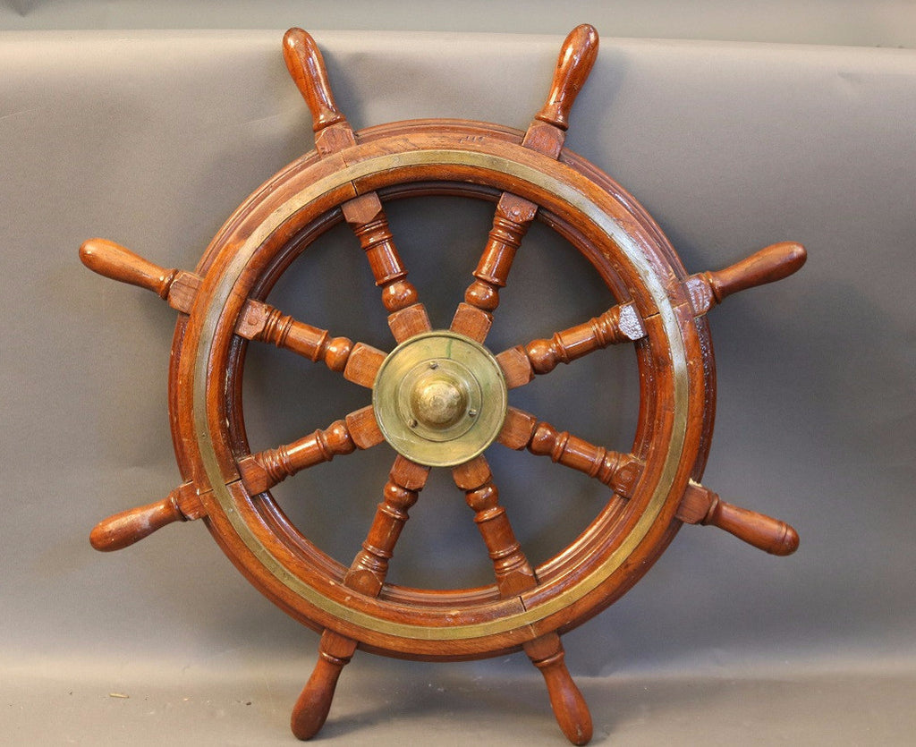 Old 8-Spoke Ship's Wheel