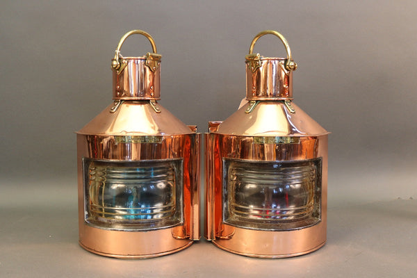 Pair of Copper Bow Lights