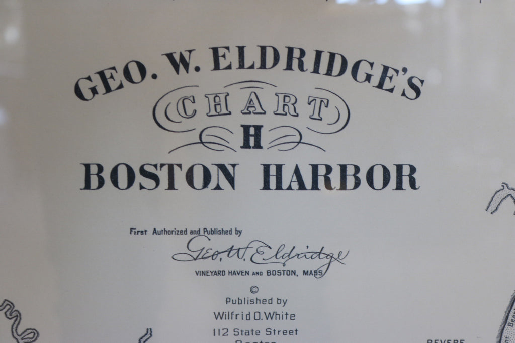 Copy of a 1903 Chart showing Boston Harbor