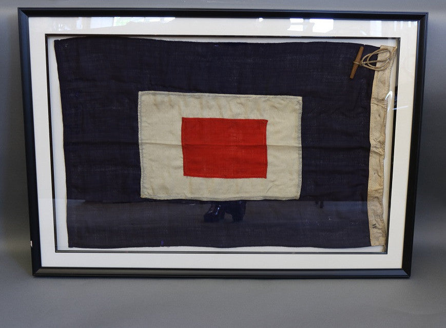 Yacht Ensign in Frame, Cotton