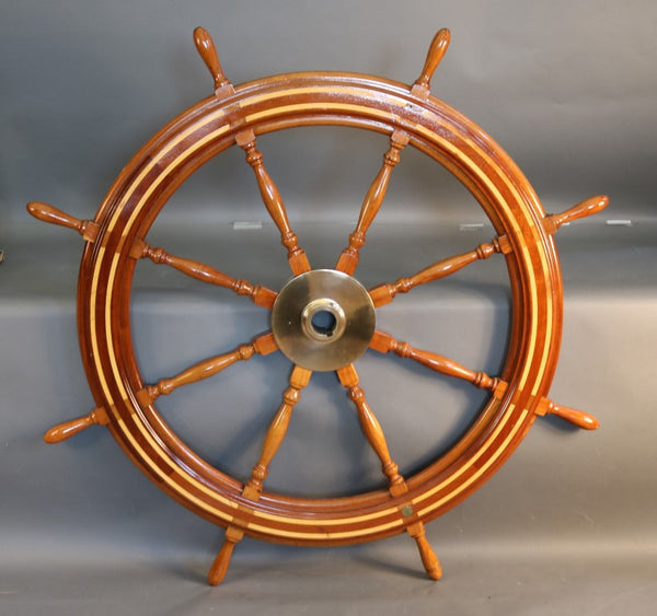 Wooden Ship's Wheel