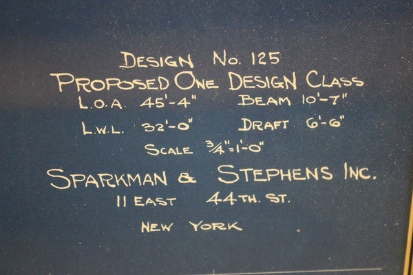 Sparkman and Stephens Inc Blueprint