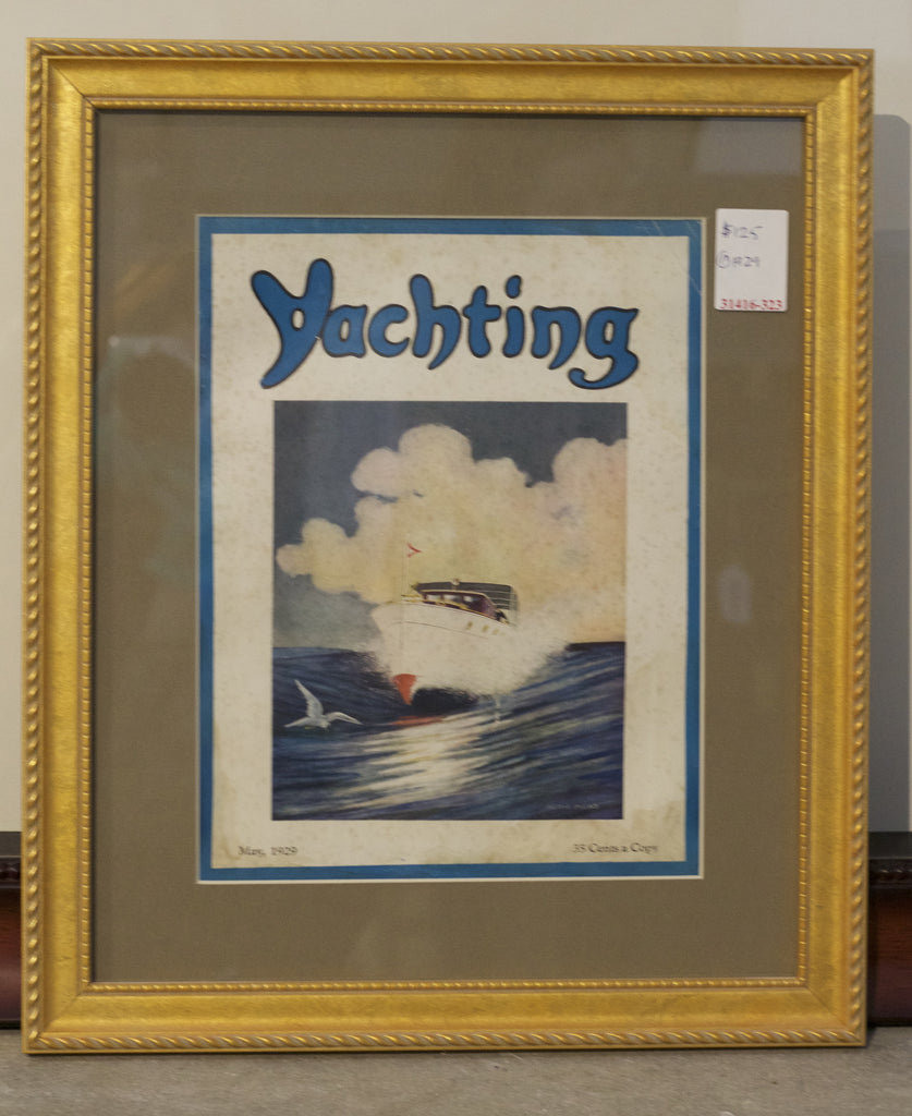 Authentic Cover from Yachting Magazine, May 1929