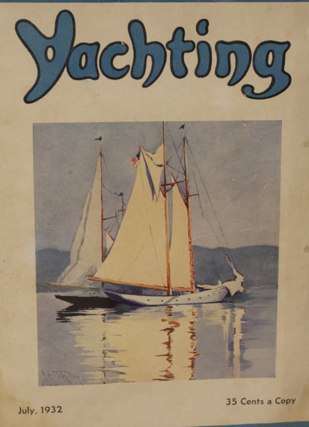 Authentic Cover from Yachting Magazine, July 1930