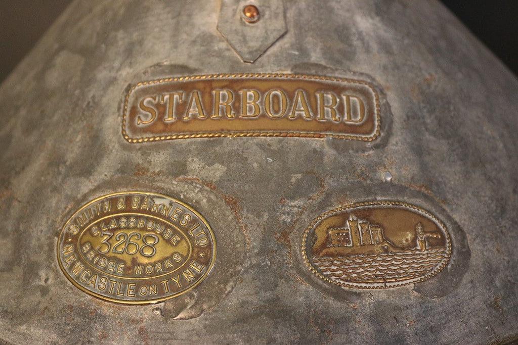 Pair of Galvanized Port and Starboard Lights
