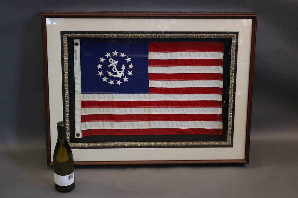 American Flag Pennant in Shadowbox Frame