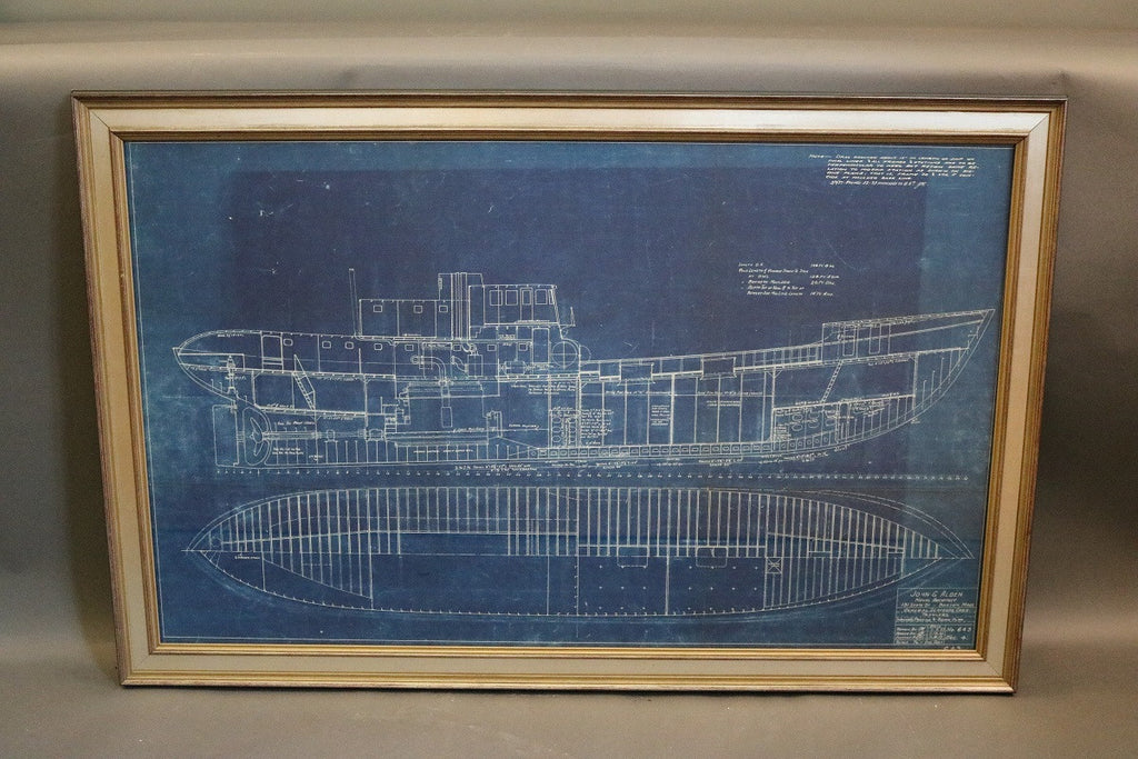 John Alden Blueprint of a Trawler