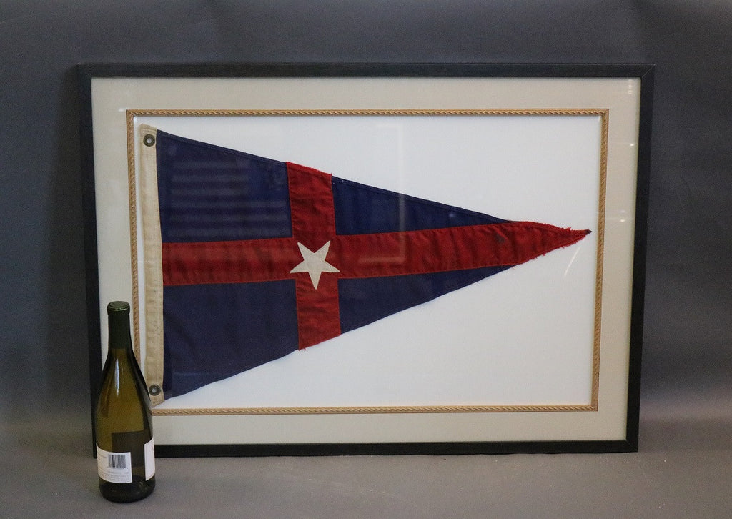 Framed New York Yacht Club Pennant