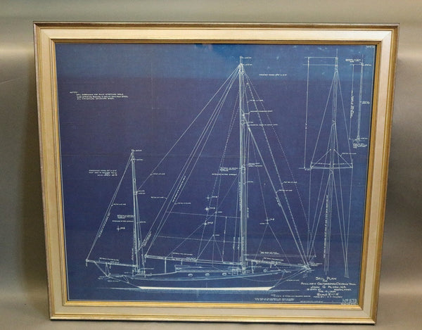 1934 Sail Plan of a Cruising Yawl