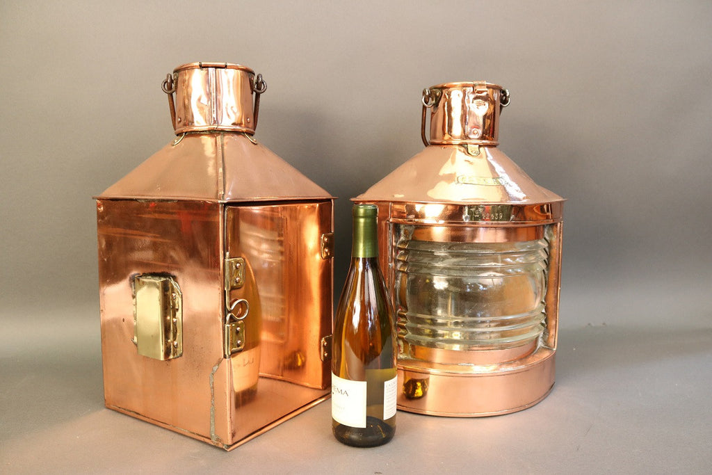 Pair of Copper Port & Starboard Lanterns