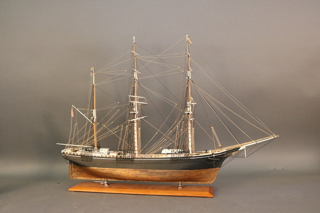 19th-Century Sailing Barque by Hitchcock
