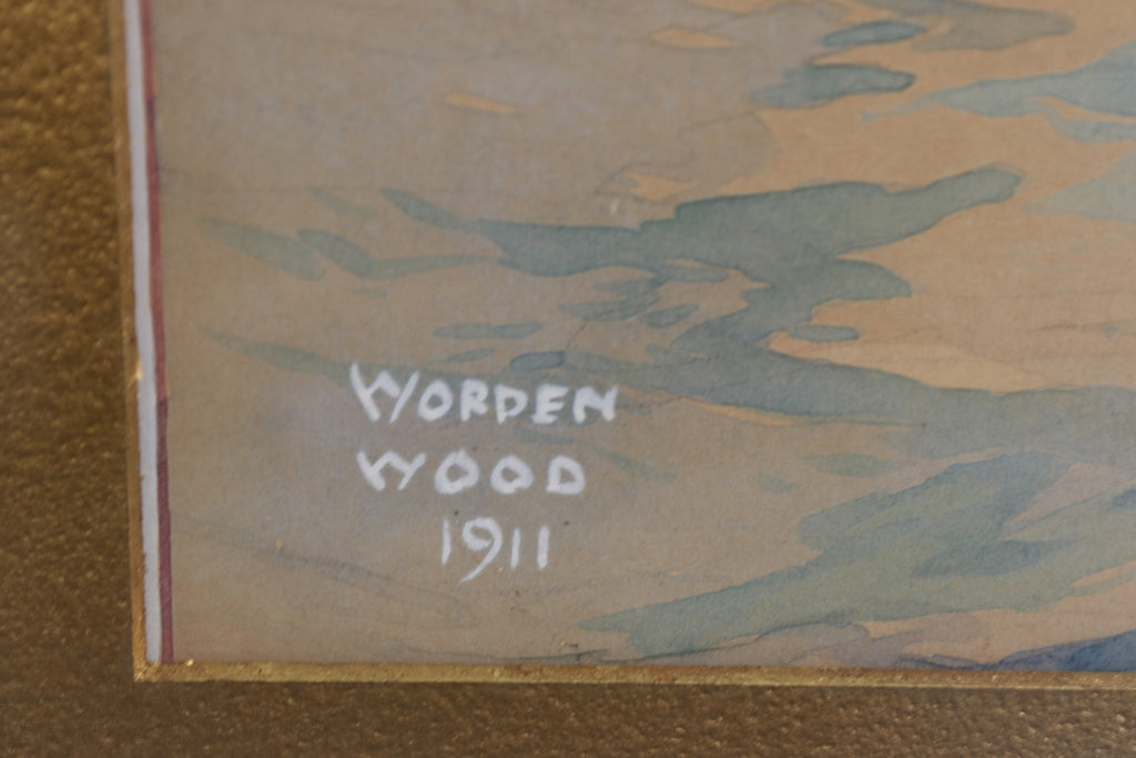 Early Gouache by Worden Wood, c.1911