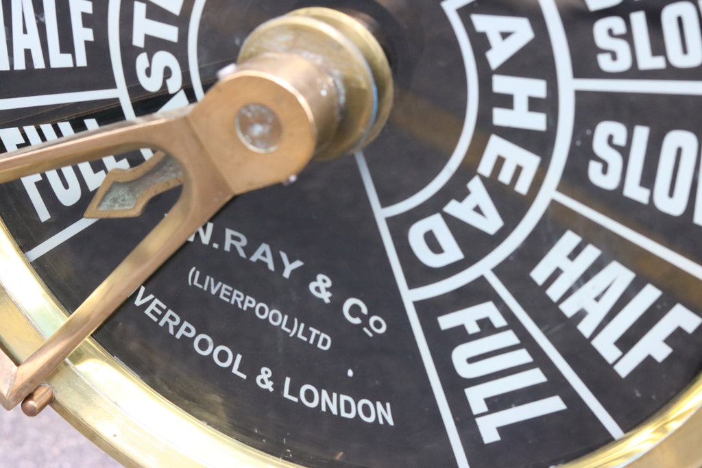 Large Engine Room Telegraph by JW Ray of Liverpool/London