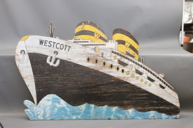 "Large Steamship Placque ""Westcott"""