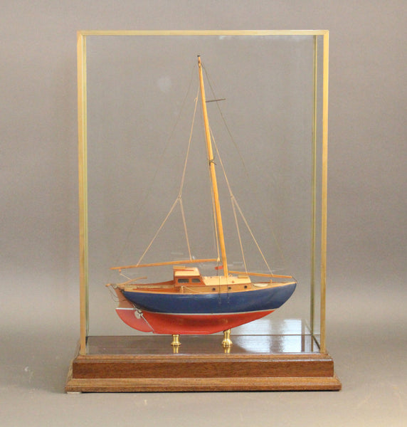 Builder's Model of a Gray Marine Sloop