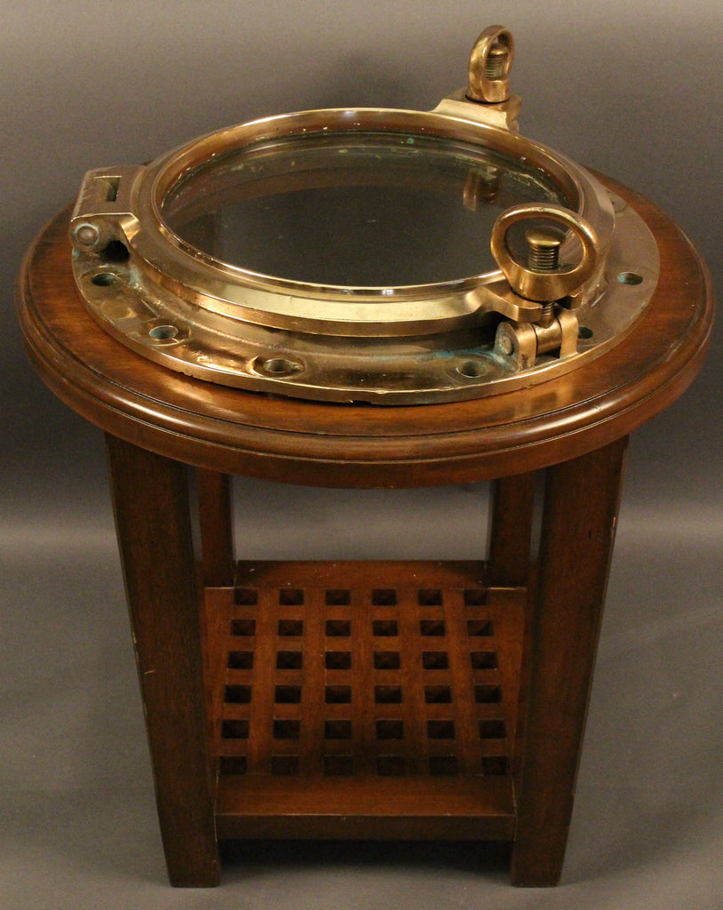 Heavy Solid Brass Ship's Porthole Table