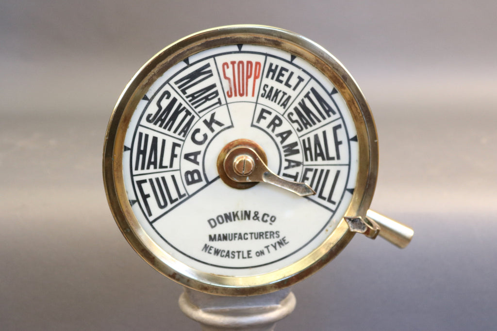 Early 20th-Century Ship's Telegraph