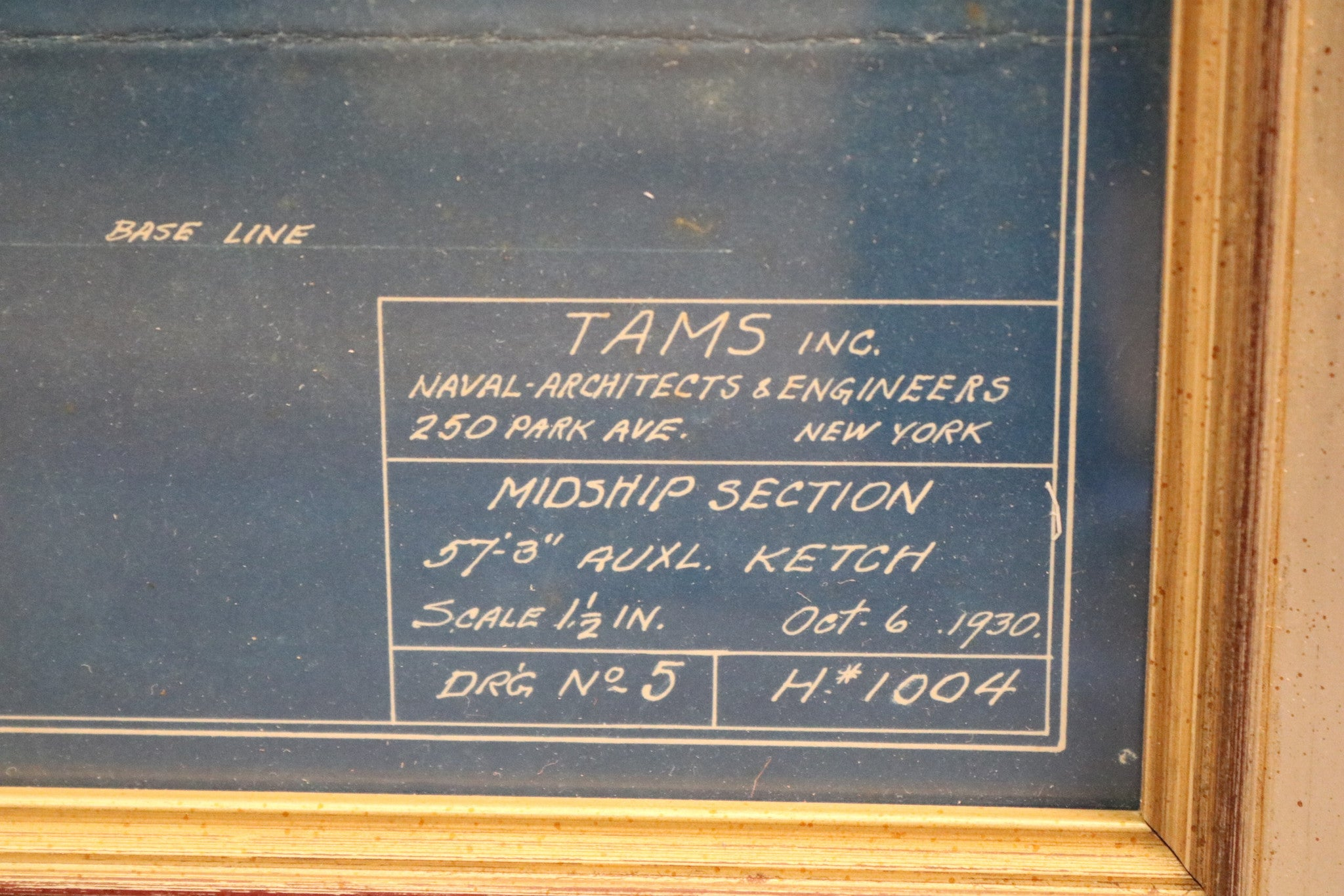 1930 yacht blueprint by tams of nyc lannan gallery 1930 yacht blueprint by tams of nyc malvernweather Image collections